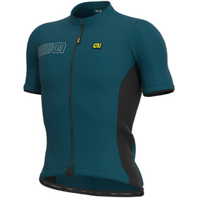 Alé Cycling Solid Color Block Maillot Manga Corta Hombre, lagoon
